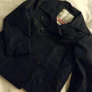 Boys blue short trench jacket 3t